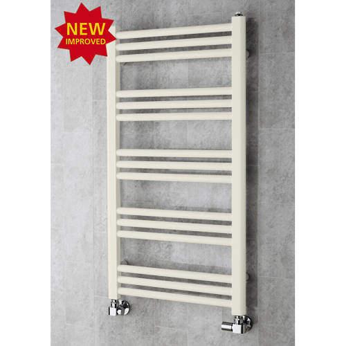 COLOUR Heated Ladder Rail & Wall Brackets 964x500 (Cream).