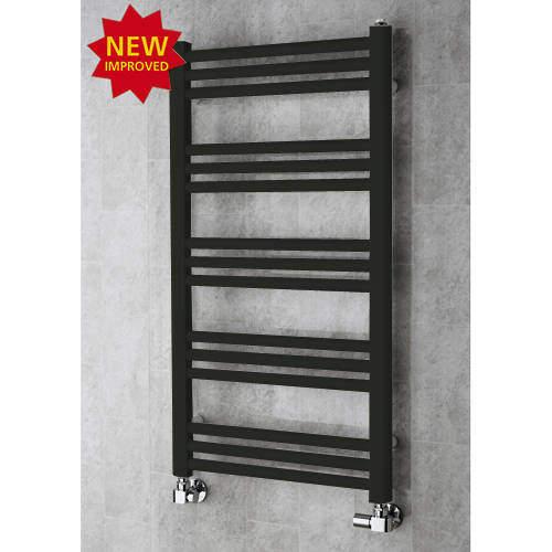 COLOUR Heated Ladder Rail & Wall Brackets 964x500 (Signal Black).