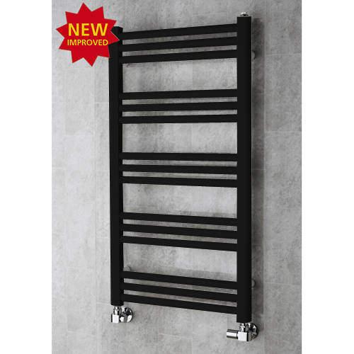 COLOUR Heated Ladder Rail & Wall Brackets 964x500 (Jet Black).