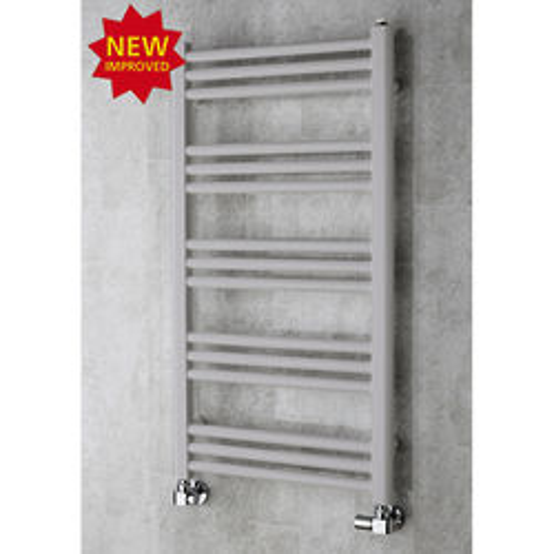 COLOUR Heated Ladder Rail & Wall Brackets 964x500 (White Aluminium).