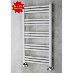 COLOUR Heated Ladder Rail & Wall Brackets 964x500 (White).