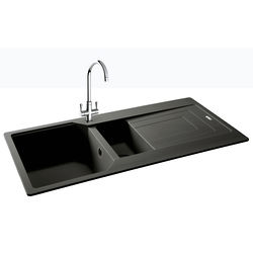 Carron Phoenix  Aruba Double Bowl Granite Sink 1000x500mm (Graphite).