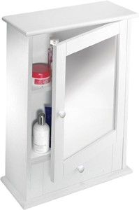 Croydex Cabinets Mirror Bathroom Cabinet With Drawer.  450x600x160mm.