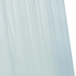 Croydex PVC Shower Curtain & Rings (Frosty Clear, 1800mm).