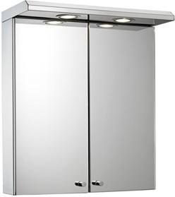 Croydex Cabinets Mirror Bathroom Cabinet, Lights & Shaver. 450x530x230mm.