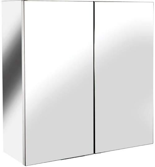 Croydex Cabinets Avon Small Mirror Bathroom Cabinet.  430x440x160mm.