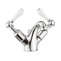 Crosswater Belgravia Basin Mixer Tap With Waste (Lever, Chrome).