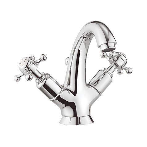 Crosswater Belgravia Highneck Basin Mixer Tap (Crosshead, Chrome).