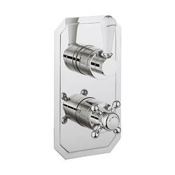 Crosswater Belgravia Thermostatic 2 Outlet Shower Valve (Chrome).