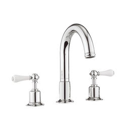 Crosswater Belgravia 3 Hole Bath Filler Tap (Lever, Chrome).