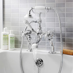 Crosswater Belgravia Bath Shower Mixer Tap (Crosshead, Chrome).
