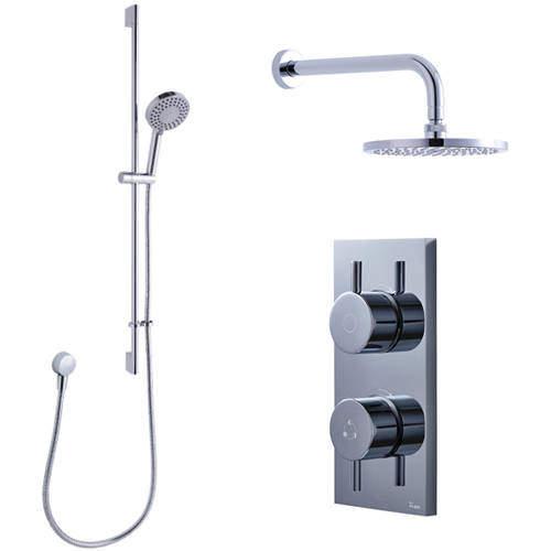 Crosswater Kai Digital Showers Dual Digital Shower, Head & Rail Kit (LP)