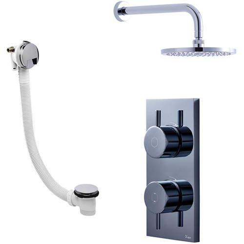 Crosswater Kai Digital Showers Digital Shower With Head & Bath Filler (HP)