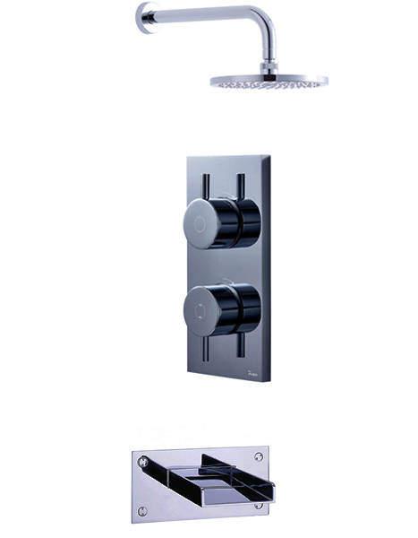 Crosswater Kai Digital Showers Digital Shower, Head & Bath Spout (LP).