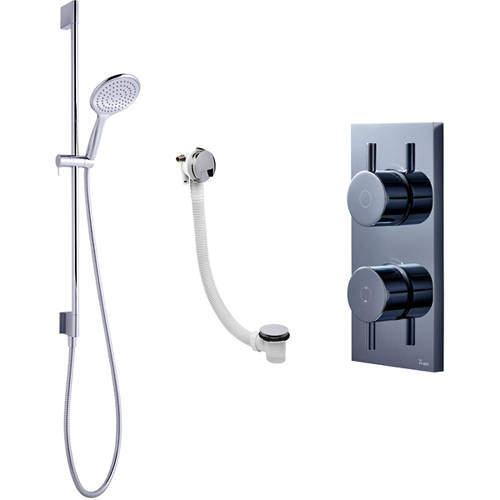 Crosswater Kai Digital Showers Digital Shower With Bath Filler & Kit (HP)