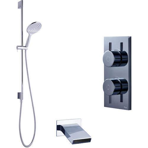 Crosswater Kai Digital Showers Digital Shower With Bath Spout & Kit (LP)