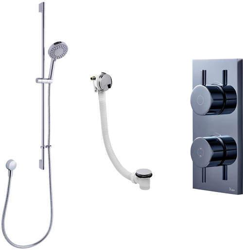 Crosswater Kai Digital Showers Digital Shower, Slide Rail & Bath Filler (LP)