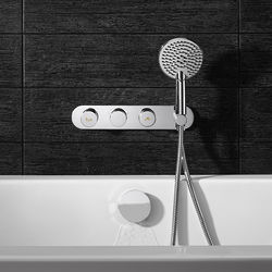 Crosswater Dial Central Thermostatic Shower & Bath Valve With Handset.