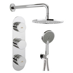 Crosswater Dial Central Thermostatic Shower Valve With Head, Arm & Handset.
