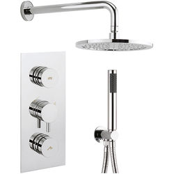Crosswater Dial Kai Thermostatic Shower Valve With Head, Arm & Handset.