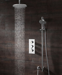 Crosswater Dial Kia Thermostatic Shower Valve With Head, Arm & Handset.
