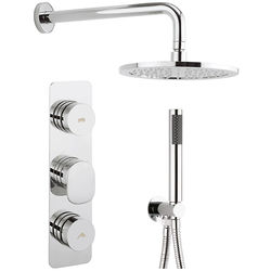 Crosswater Pier Push Button Thermostatic Shower Pack (2 Outlets).