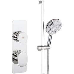 Crosswater Pier Thermostatic Shower Valve With Slide Rail Kit (1 Outlet).