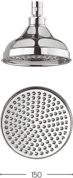 Crosswater Belgravia 150mm Round Shower Head (Chrome).