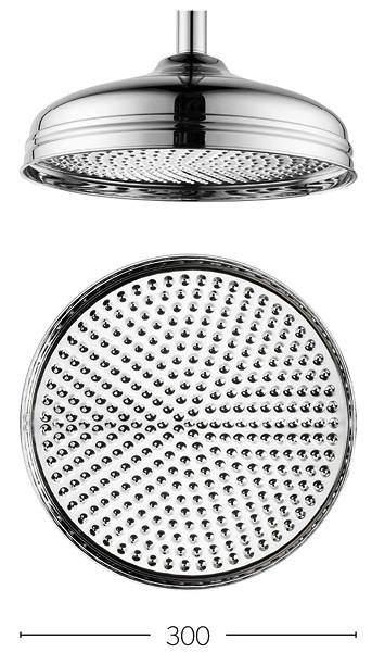 Crosswater Belgravia 300mm Round Shower Head (Chrome).