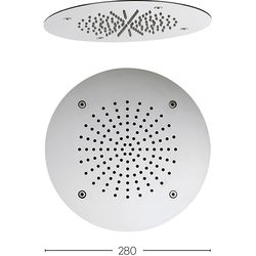 Crosswater Showers Recessed Round Shower Head (280mm).