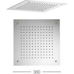 Crosswater Showers Recessed Square Shower Head (380x380mm).