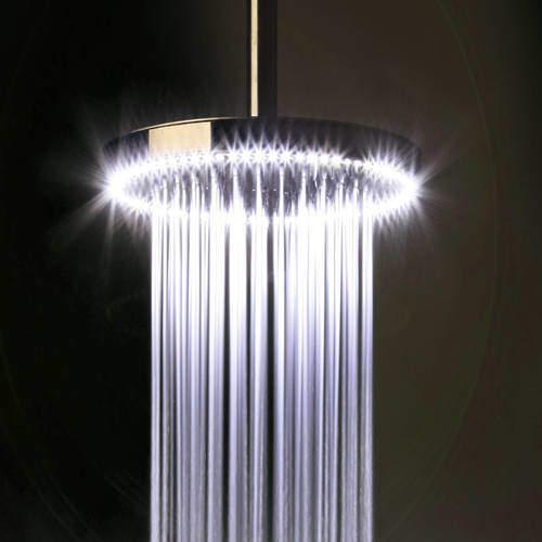 Crosswater Illuminated Rio White LED Shower Head (240mm diameter).