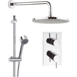 Crosswater Fusion Thermostatic Shower Valve, 250mm Head, Rail & Arm.