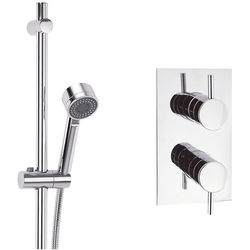 Crosswater Fusion Thermostatic Shower Valve With Slide Rail Kit.