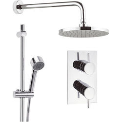 Crosswater Fusion Thermostatic Shower Valve, 200mm Head, Rail & Arm.