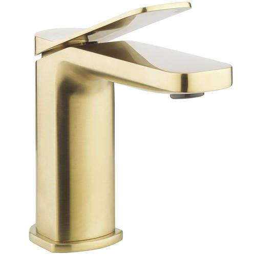 Crosswater Glide II Basin Mixer Tap (Brushed Brass).