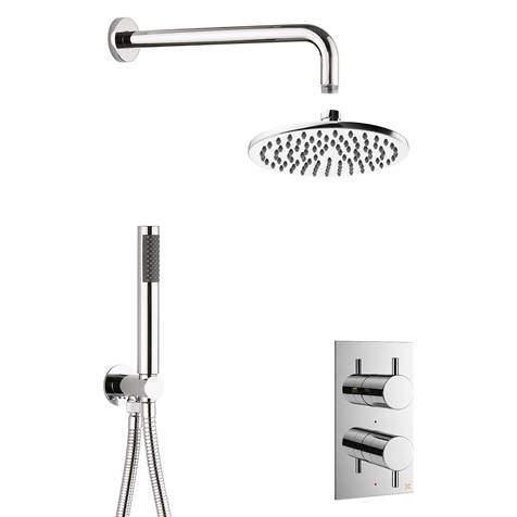 Crosswater MPRO 2 Outlet 2 Handle Shower Bundle (Chrome).