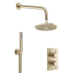 Crosswater MPRO 2 Outlet 2 Handle Shower Bundle (Brushed Brass).