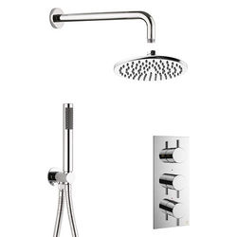 Crosswater MPRO 2 Outlet 3 Handle Shower Bundle (Chrome).