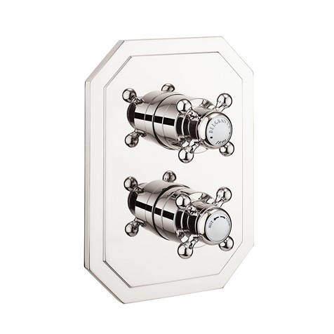 Crosswater Belgravia Crossbox 2 Outlet Shower Valve (Nickel).