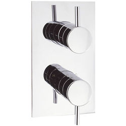 Crosswater Kai Digital Showers Thermostatic Shower Valve (1 Outlet, Chrome).