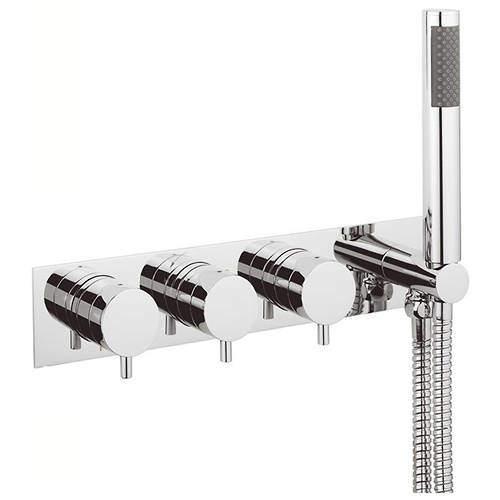 Crosswater Kai Digital Showers Thermostatic Shower Valve & Handset (2 Outlets).