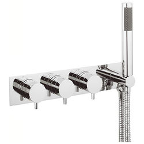 Crosswater Kai Digital Showers Thermostatic Shower Valve & Handset (3 Outlets).