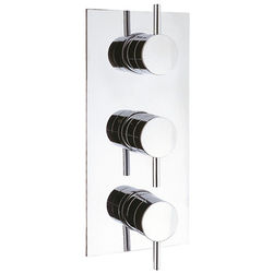 Crosswater Kai Digital Showers Thermostatic Shower Valve (2 Outlets, Chrome).