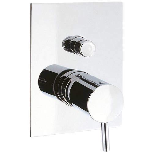 Crosswater Kai Digital Showers Manual Shower Valve With Diverter (2 Outlets, Chrome).