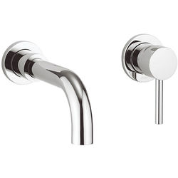 Crosswater Fusion Wall Mounted Basin Mixer Tap (Chrome).