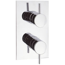 Crosswater Fusion Thermostatic Shower Valve (2 Outlets, Chrome).