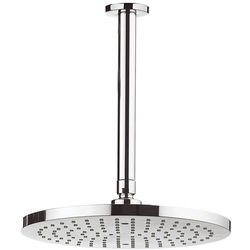 Crosswater Fusion Round Shower Head & Ceiling Arm (250mm).