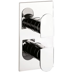Crosswater Planet Thermostatic Shower Valve (2 Outlets, Chrome)).
