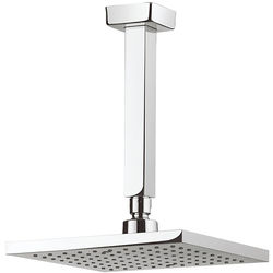 Crosswater Planet Square Shower Head & Ceiling Arm (200x200mm).